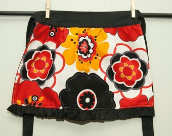 Children's flower zebra apron