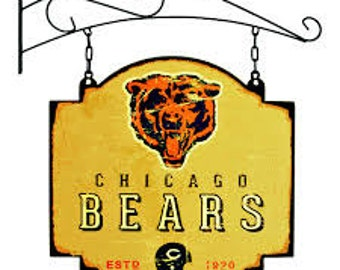 Chicago Bears Tavern Sign With Bracket