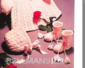 Bellmans 1381 Vintage knitting pattern, baby knitting pattern