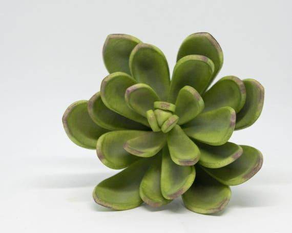 Medium Green and Purple Sugar Succulent for wedding cake toppers, sugar flower arrangements and gumpaste decorations