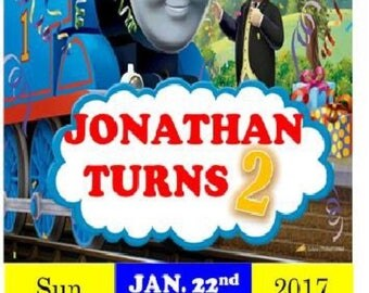 Thomas The Tank Engine Invitation