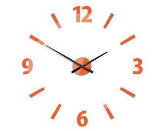 Large wall clock, Big wall clock, Wall clock 29.53, 75cm Klaus Orange