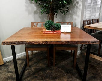 SALE! African Mahogany Live Edge Dining Table