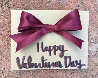 Valentine's Bow Card