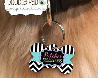 Patterned Pet Id Tag, Custom Dog Collar Tag