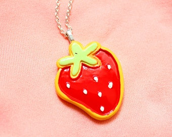 Strawberry Necklace | Jewellery | Fruit | Accessories | Kawaii