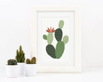 Cactus Embroidery Pattern Succulent Pattern Plant Aztec Gift Greenery Design Plant Art Home Decor Cute Goodie