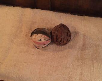 Antique Calico Rag Balls