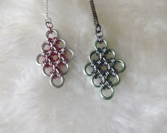 Japanese Weave Chainmail Diamond - Made to Order - Pendant, Ornament, Decoration, Necklace