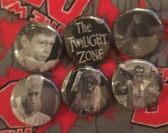 The Twilight Zone Pins Set of 6