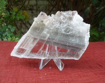 Selenite Crystal Plate with Inclusions, from Lavrion District, Greece
