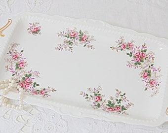 Beautiful Vintage Royal Albert 'Lavender Rose' Porcelain Cake Plate/Biscuit Tray, England