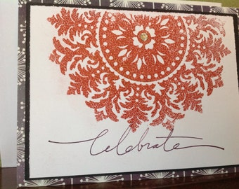 Handmade Birthday Card- birthday-handmade- feminine-greeting card-celebration card