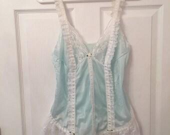 Vintage babydoll lace top lingerie M