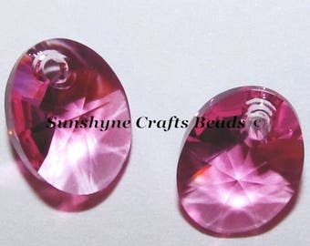 Swarovski Crystal Beads 6028 8MM Oval Faceted Pendant 4 Pcs  - More Colors Available