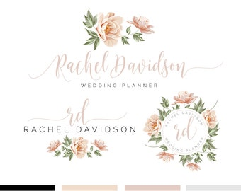 Branding Kit, Branding Package, Premade Logo, Watercolor Logo, Rose Gold Logo, Logo Design, Industrial Logo, Photography Logo, Wedding Logo