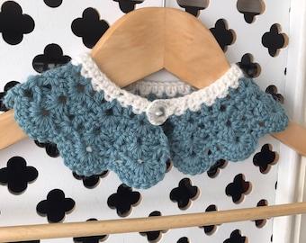 Crochet Peter Pan Collar, Girls or Women's Collar, Girls Peter Pan Collar, Girls Clothing. Child's Peter Pan Collar