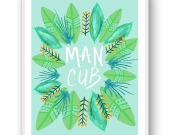 Man Cub 8x10 Print Jungle Book Nursery Art