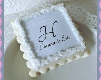 Wedding Favor Cookies- Personalized Bridal Shower Thank You Gifts