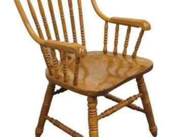 Superb RICHARDSON BROTHERS Oak Bowback Windsor Arm Chair