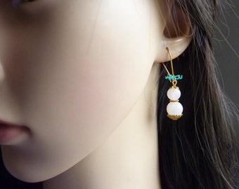Quartz beads Earrings