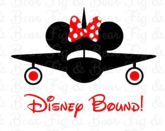 Disney Bound Minnie Mouse Airplane Shirt Iron On Transfer Mickey Mouse Plane