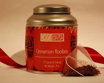Cinnamon Rooibos (Red Bush) Pyramid Teabags- Tea- Tea Gift - Teabags