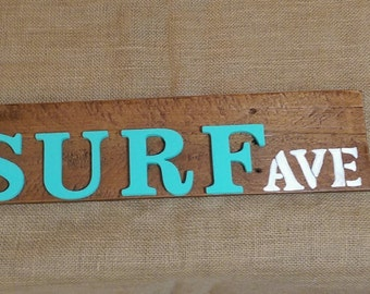Surf Ave Sign