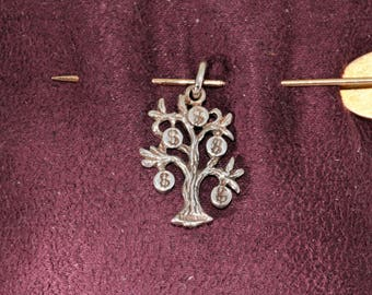 Lucky Money Tree Charm, Vintage, Estate, Sterling Silver/SS, 925, Cute, Small, Layaway available, ET259