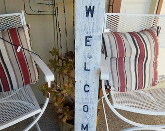 Front porch welcome sign/ rustic welcome sign/ vintage welcome sign/ wood sign/ rustic wood sign/