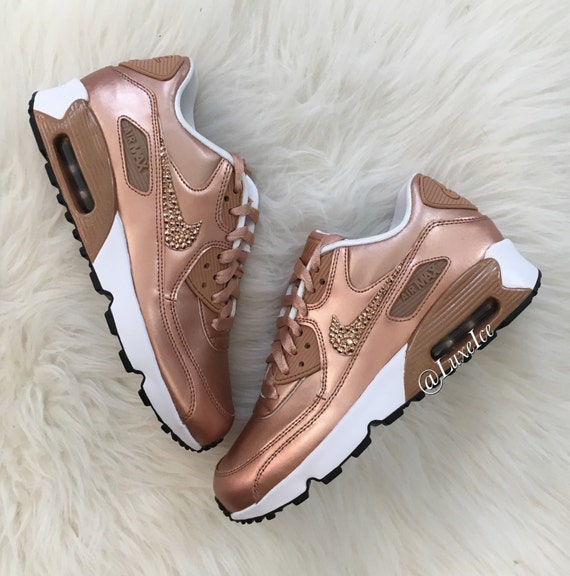 pretty nice a6978 d6b21 chic Nike Air Max 90 SE Leather Shoes Made with by ShopLuxeIce on Etsy