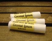 Coconut Lemongrass Lip Balm, Coconut Lip Balm, Lemon Grass Lip Balm, Lip Gloss, Lip Care, Natural Lip Balm, Bees Wax Balm, Handcrafted Balm