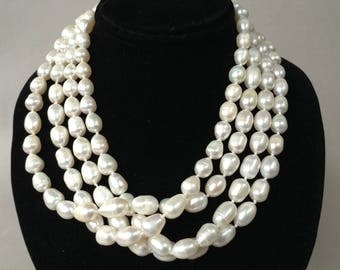 Opera Length Never Ending Baroque Pearl Necklace