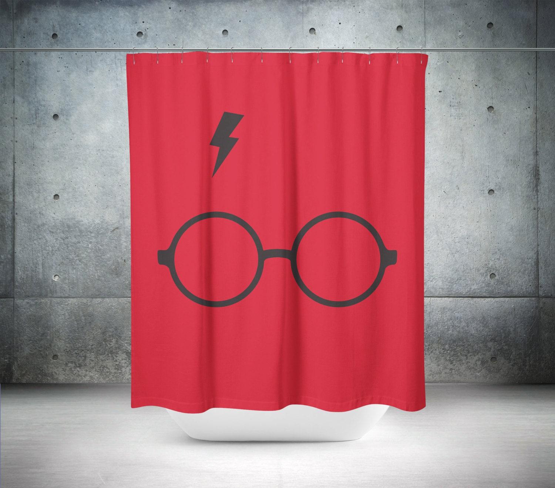 Harry potter shower curtain harry potter decor cool shower for Really cool shower curtains