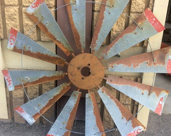 Windmill Wall Art windmill half metal farmhouse wall art 60 inch gift