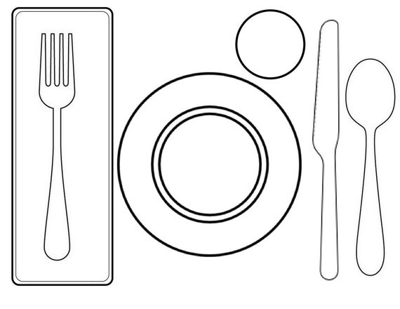 table top coloring pages | Montessori Place Setting Work