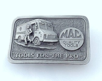Pewter Mac Quality Tools For The Pro Mechanic Union Vintage Belt Buckle, 3rd In Series Limited Edition