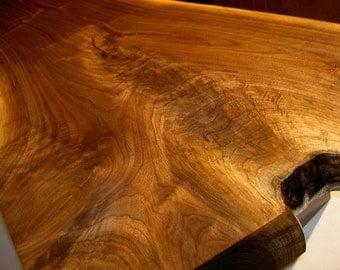 Black Walnut Crotch Cut Live Edge Bench / Coffee Table Style of George Nakashima Mid Century MCM Danish