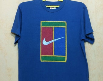 90s Vintage Nike PETE SAMPRAS Big Logo T-shirt Tennis Sports Unisex Adult Small Size