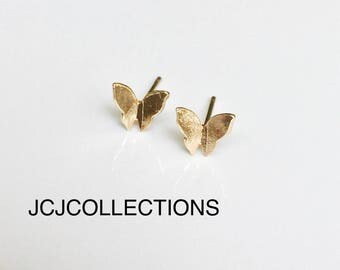 Tiny Butterfly Earrings / Dainty /Gift for Girls
