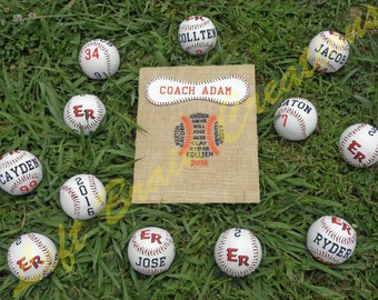 Custom Embroidered Baseball Coach Gift