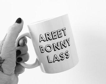 Areet Bonny Lass English mug