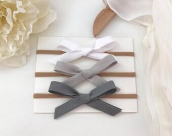Shades of Grey Hand Tied Bow Set