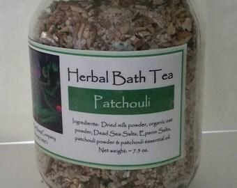 Patchouli Herbal Bath Tea, Patchouli Bath Salts, Patchouli Tub Tea, Patchouli, Bath Salts, Patchouli, Vegan Bath Tea, Easter Gift