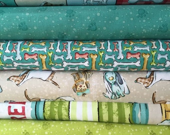 Pampered Pooch 5 Fat Quarter and Panel Bundle by SPX Fabrics