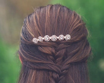 Water Pearl Rose Gold Wedding Hair Comb,Rose Gold Pearl Wedding Decorative Hair Comb,Crystal Rose Gold Bridal Hair Comb,Pink Gold Headpiece
