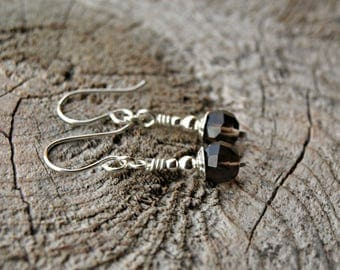 925 Sterling Silver Smoky Quartz Earrings