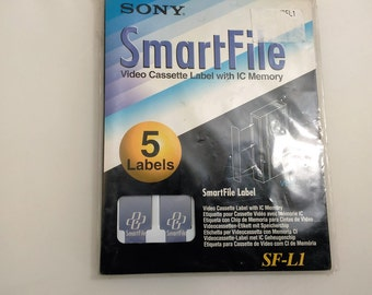 Sony Smart Fire Video Cassette Label With IC Memory /5 Label Packet/New (P)