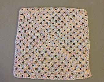 Granny Square Dishcloth, GrannySquare Washcloth, Large Washcloth/Dishcloth, Cotton Washcloth/Dishcloth, Gift, Housewarming