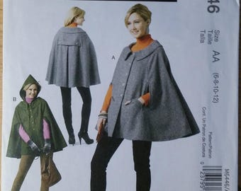 Uncut McCall's M6446 Sewing Pattern for Misses' Cape